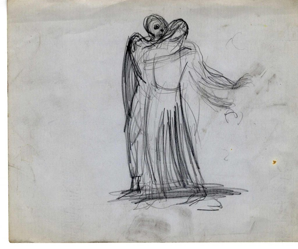 Epstein, Sir Jacob Sketch of Two Figures With Wings