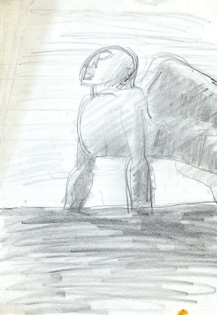 Epstein, Sir Jacob Sketch of a Sphinx-like Creature with Wings
