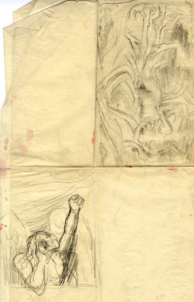 Epstein, Sir Jacob 2 Figure Sketches