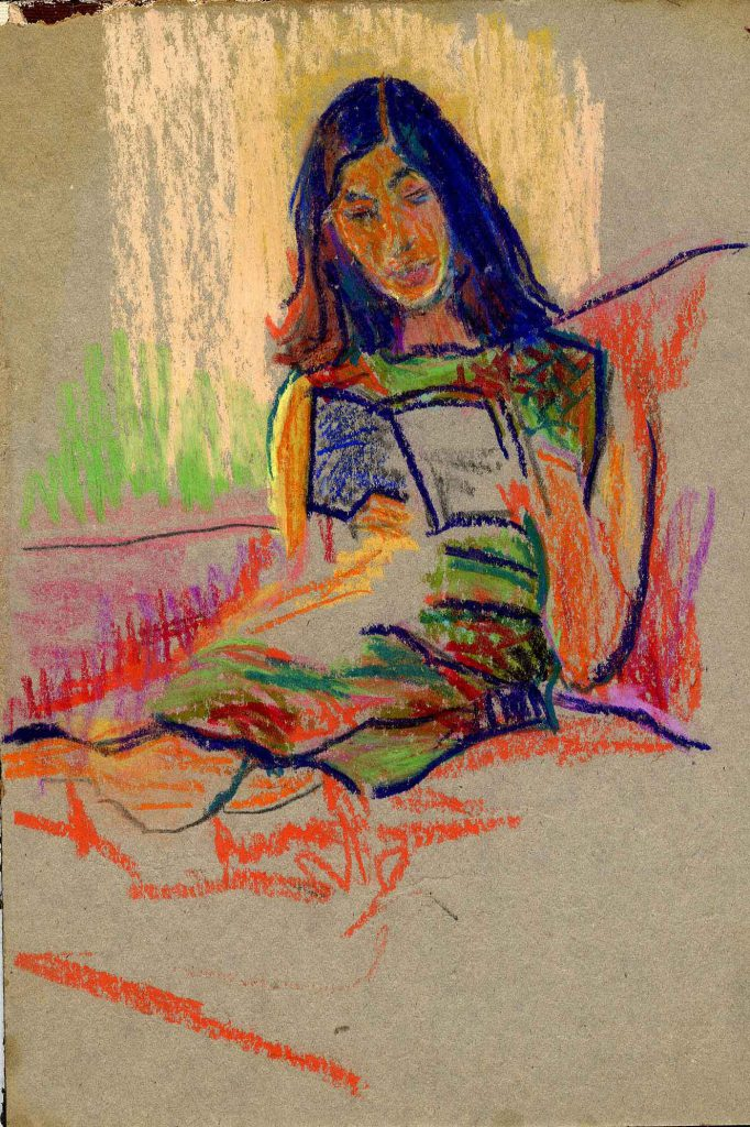 Ryan, Sally Portrait of Kathleen Garman-Epstein Seated Reading a Book