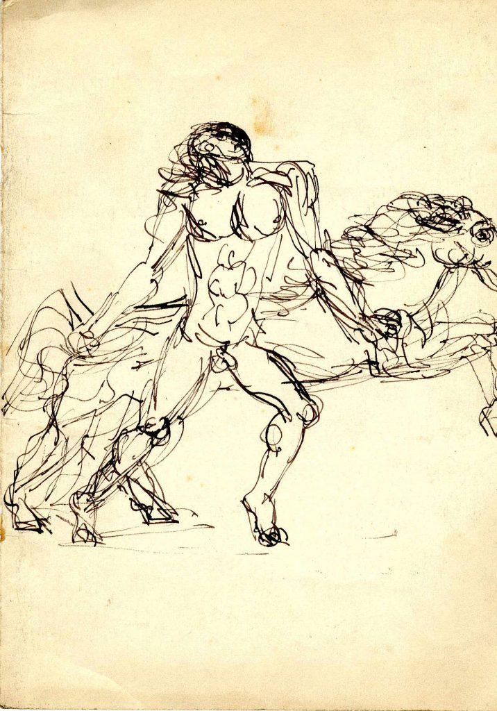 Unknown Sketch of Leaping Horse