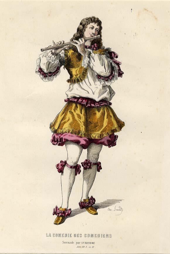 Unknown La Comedie des Comediens, Serenade par Symandre, Acte III 1. se II.