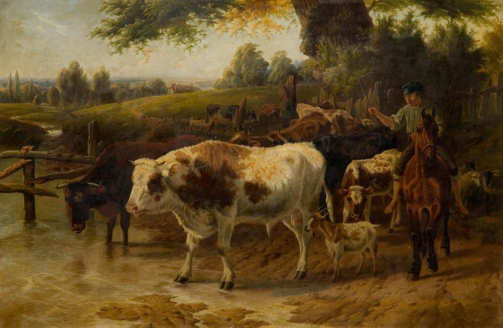 Jones, Charles Cattle at Stream