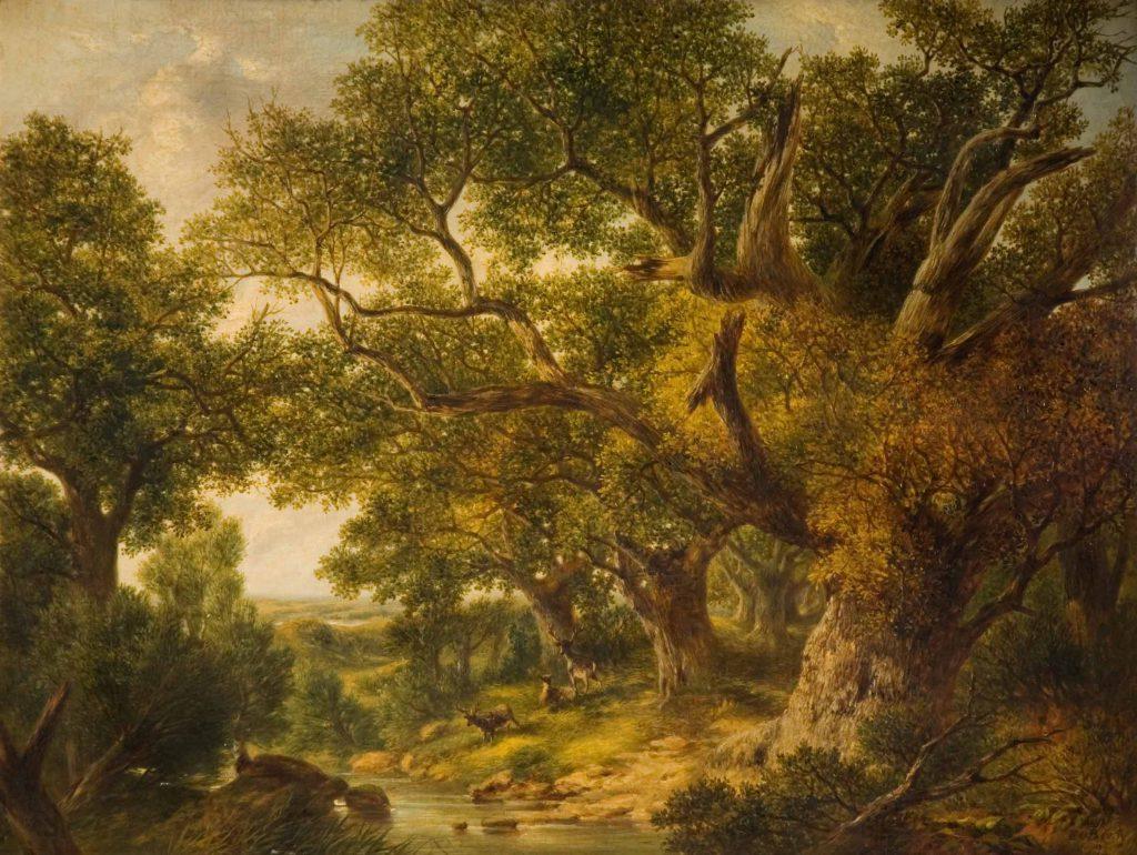 Bowley, Edward O. Landscape with Deer