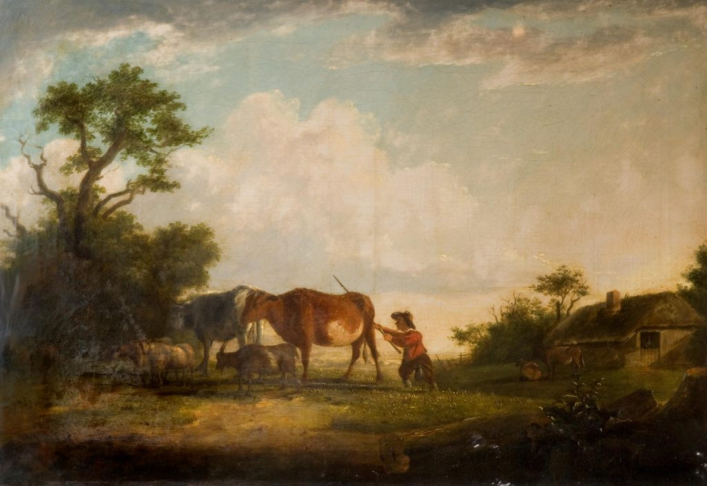 Unknown Landscape with cattle and cowherd