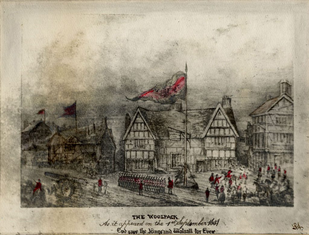 Unknown The Woolpack Inn as on 1st September 1651 (God Save the King and Walsall Forever)