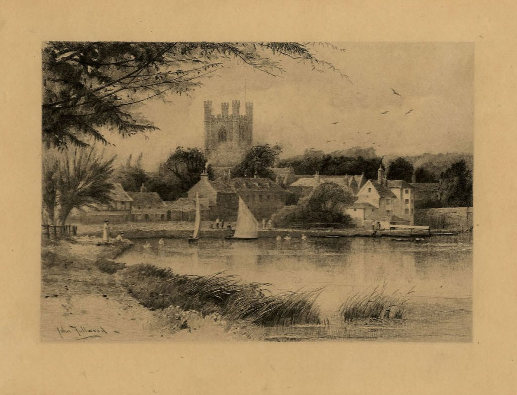 Fullwood, John Henley-on-Thames (Lake, 2 yachts and Church)