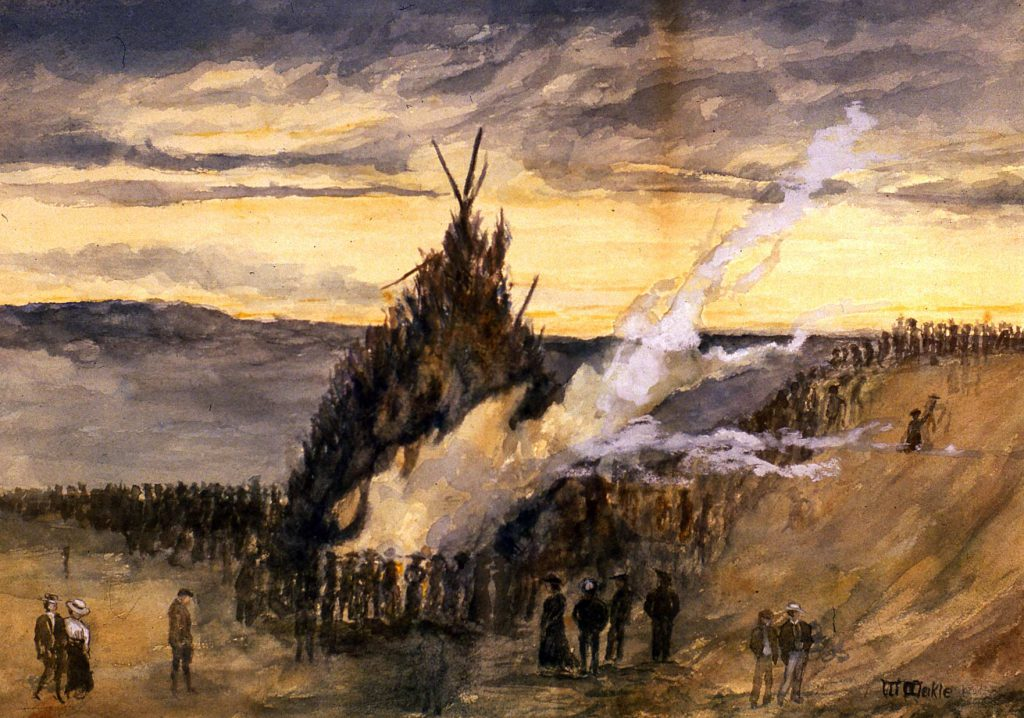 Meikle, William Lighting Barr Beacon – Occasion of Queen Victoria's Diamond Jubilee