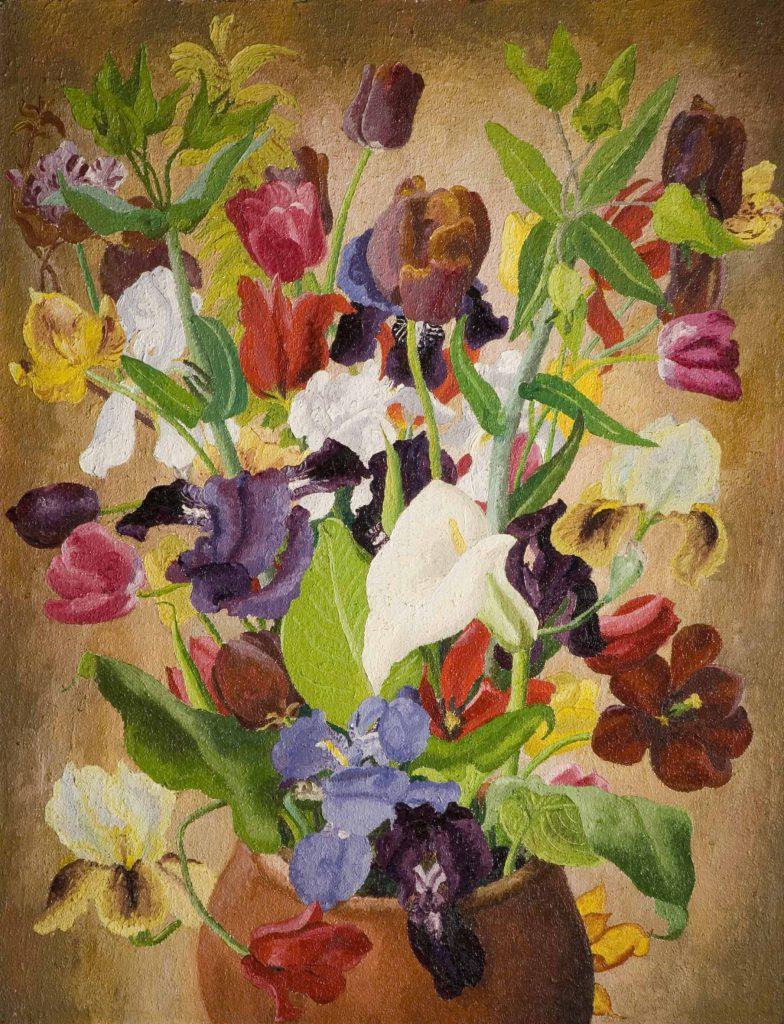 Morris, Sir Cedric Irises and Tulips