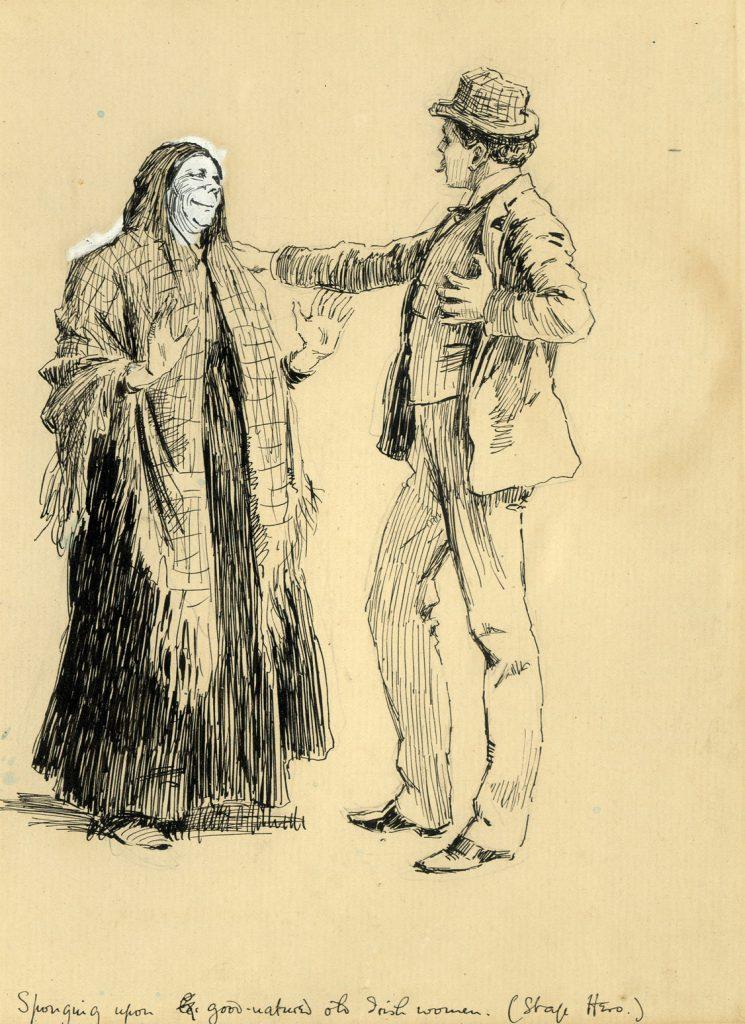 Partridge, J.B. Sponging upon good natured old Irish Women