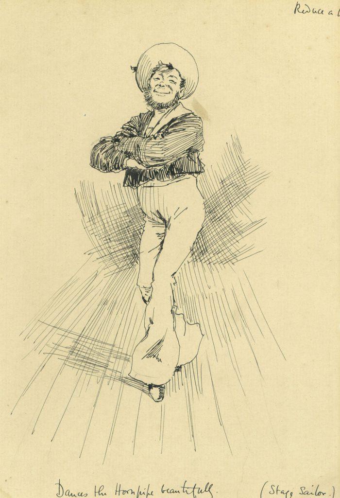 Partridge, J.B. Dances the hornpipe beautifully