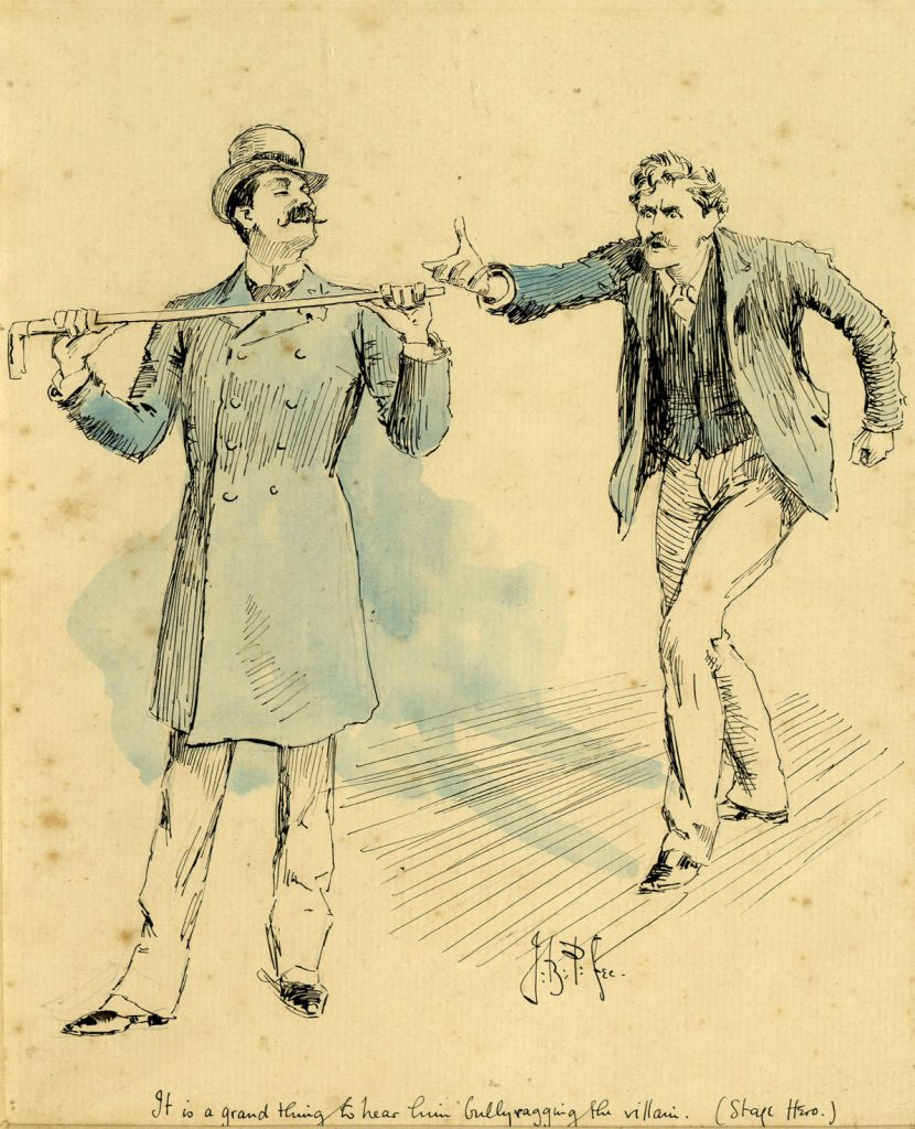Partridge, J.B. It is a grand thing to hear him bully-ragging the villain
