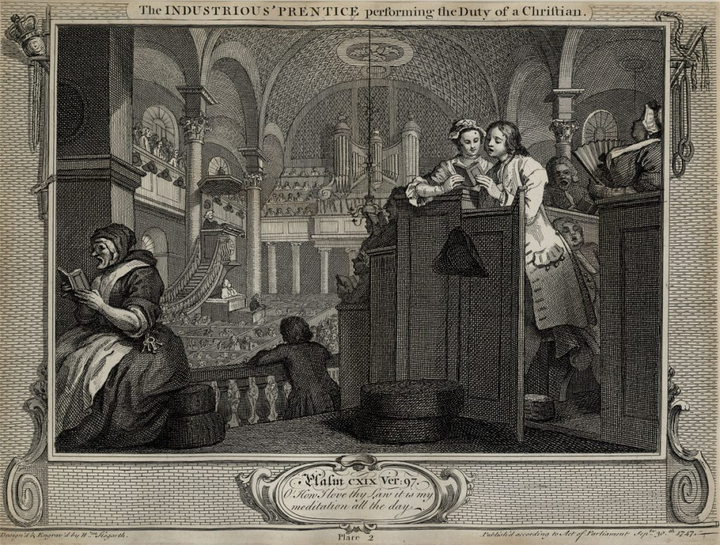Hogarth, William The Fellow 'Prentices Plate 5  The Idle 'Prentice turned away and sent to sea