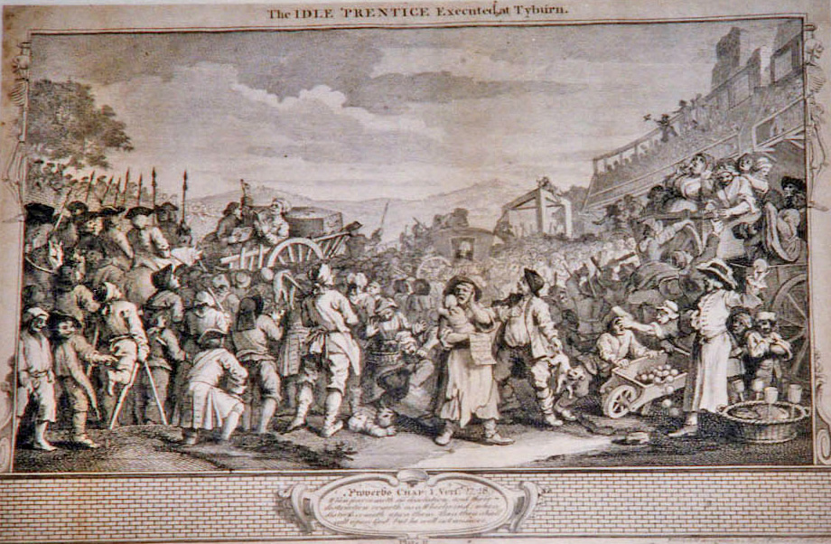 Hogarth, William The Fellow 'Prentices; Plate 11  The Idle 'Prentice executed at Tyburn
