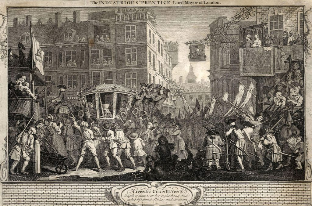 Hogarth, William The Fellow 'Prentices; Plate 12  The Industrious 'Prentice Lord Mayor of London
