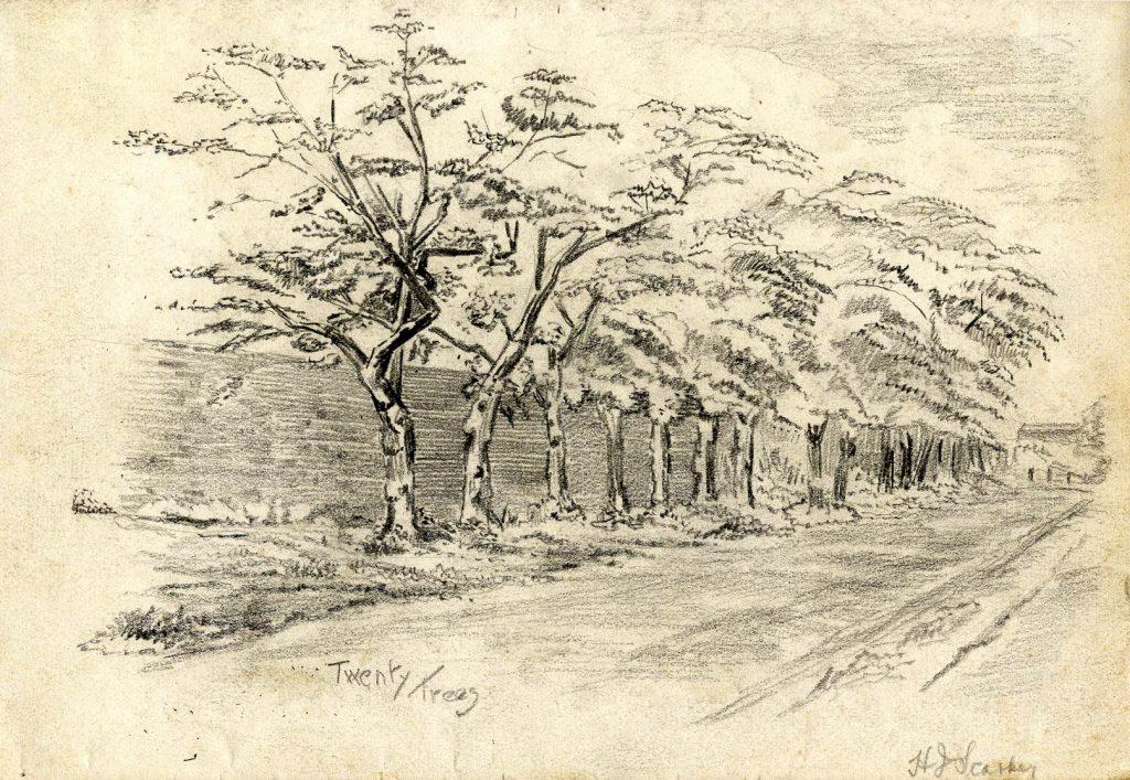 Starkey, H.J. Twenty Trees: Site of Fighting Cocks Coaching House (Formally Neachells Hall)