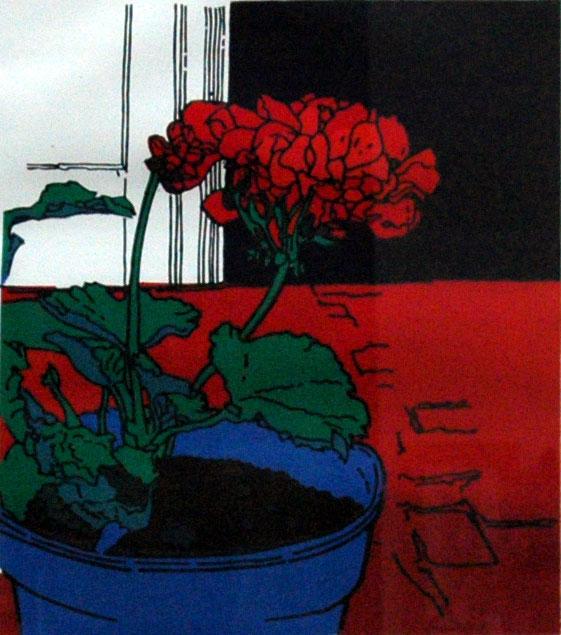 Allen, Trevor Blue Flower Pot