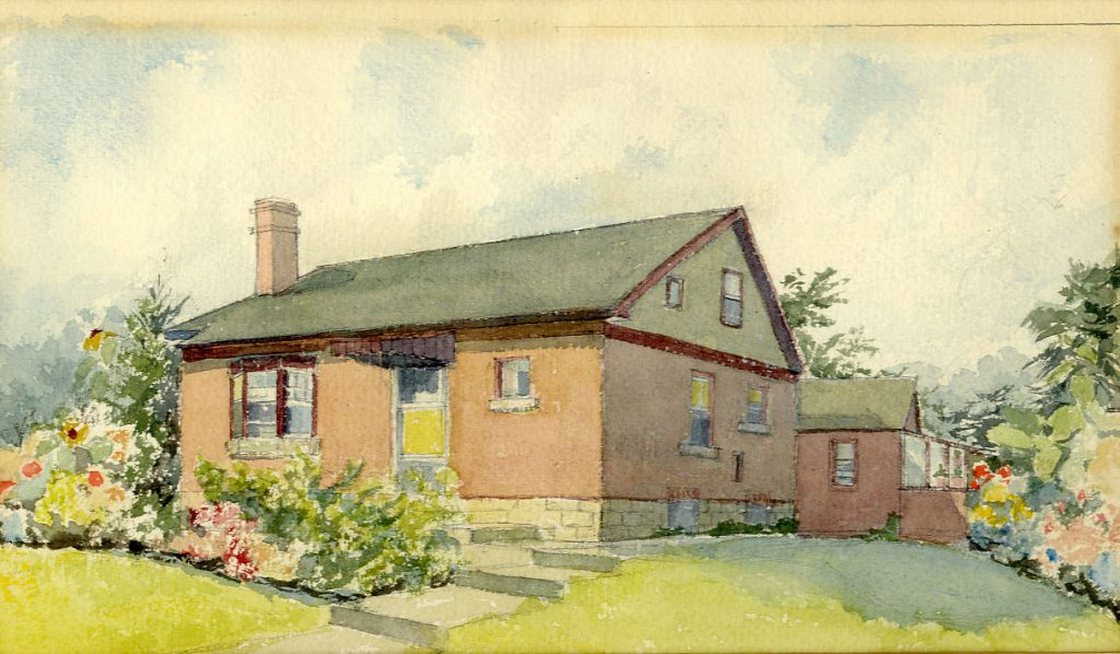 Flint, E. M. Home of Mr & Mrs Cornwell (Canada)