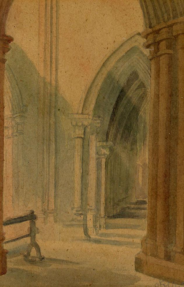 Flint, E. M. Corner of Lichfield Cathedral  1948