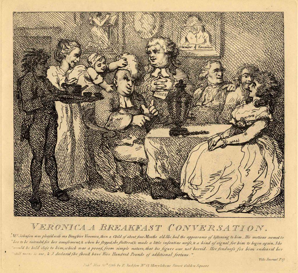 Rowlandson, Thomas Veronica a Breakfast Conversation