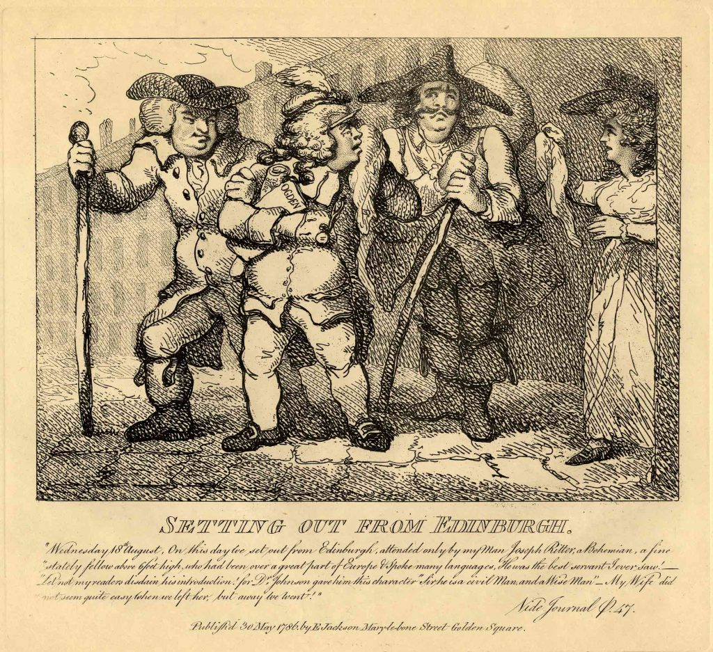 Rowlandson, Thomas Setting out from Edinburgh