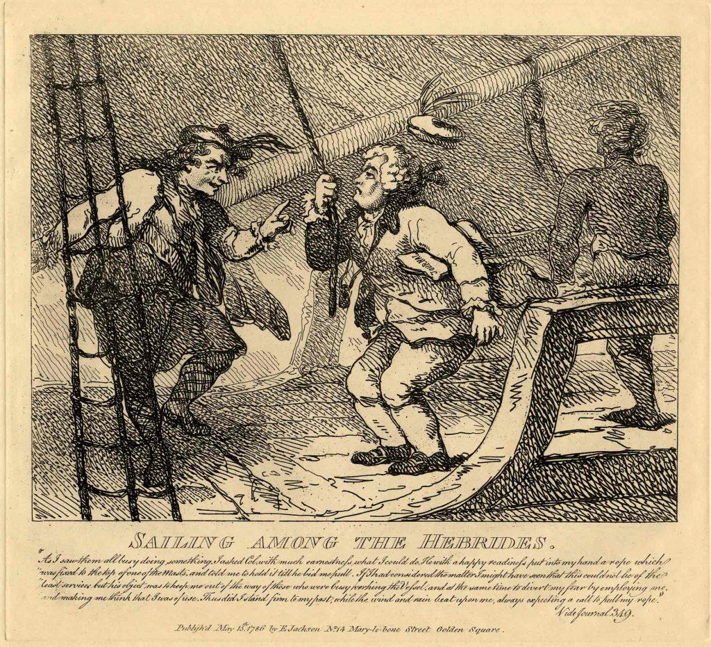 Rowlandson, Thomas Sailing Among the Hebrides