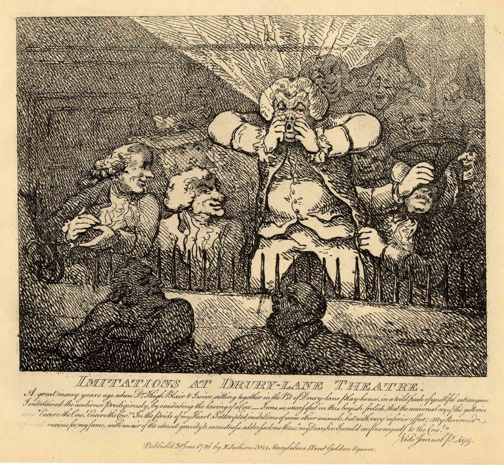 Rowlandson, Thomas Imitations at Drury-Lane Theatre