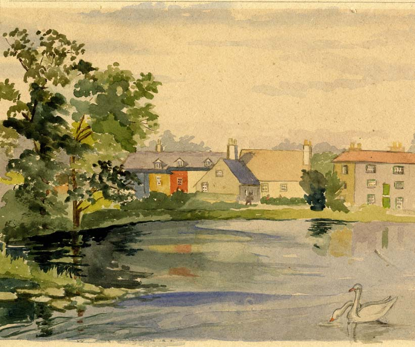 Flint, E. M. Untitled (Waterside Cottages)