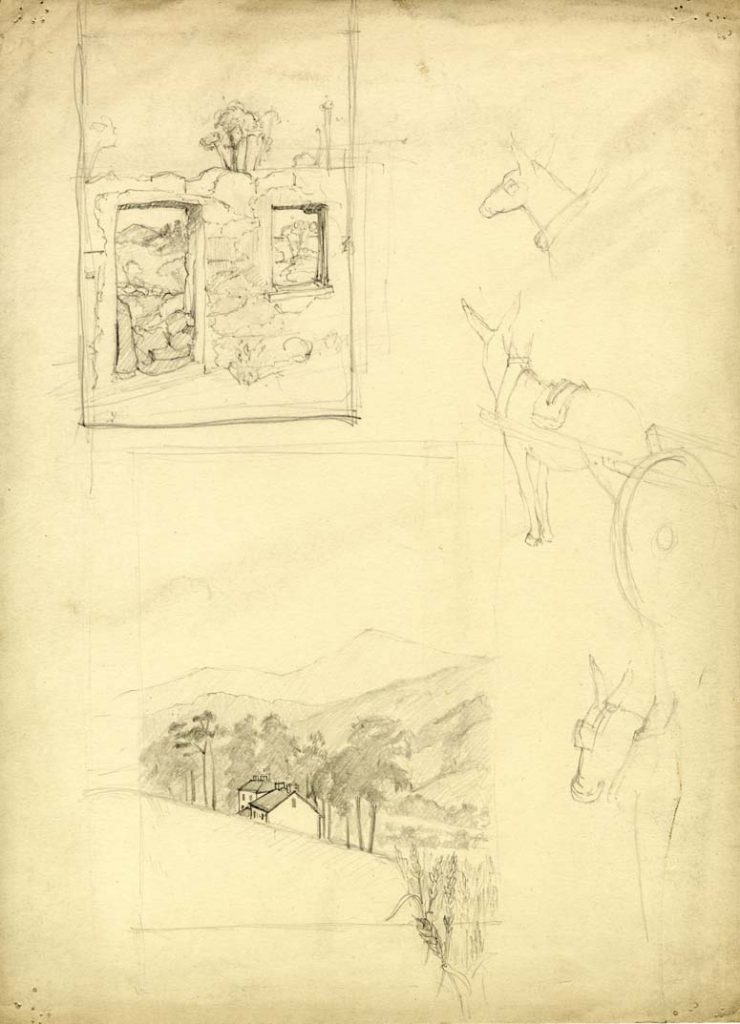 Flint, E. M. Untitled (Landscape sketches)