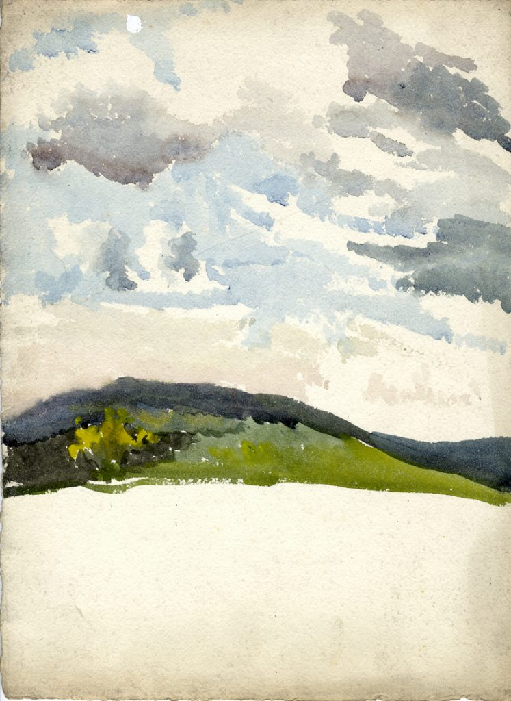 Flint, E. M. Untitled (Landscape Study)