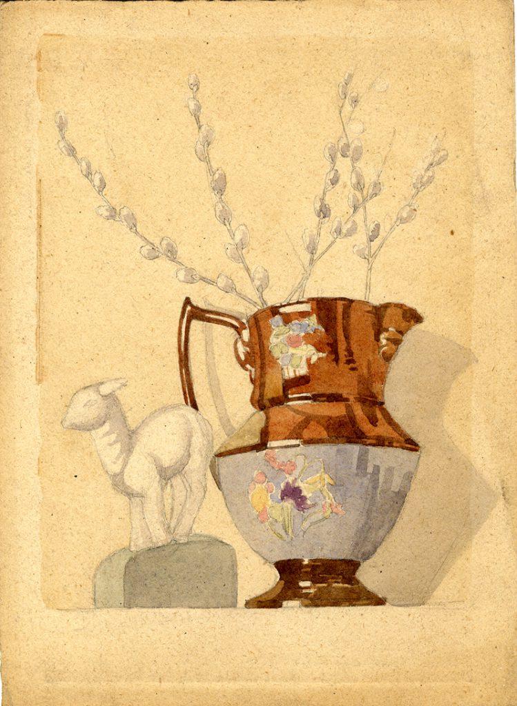Flint, E. M. Untitled (Vase and Ornaments)