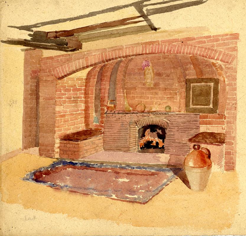 Flint, E. M. Untitled (Interior, fireplace)