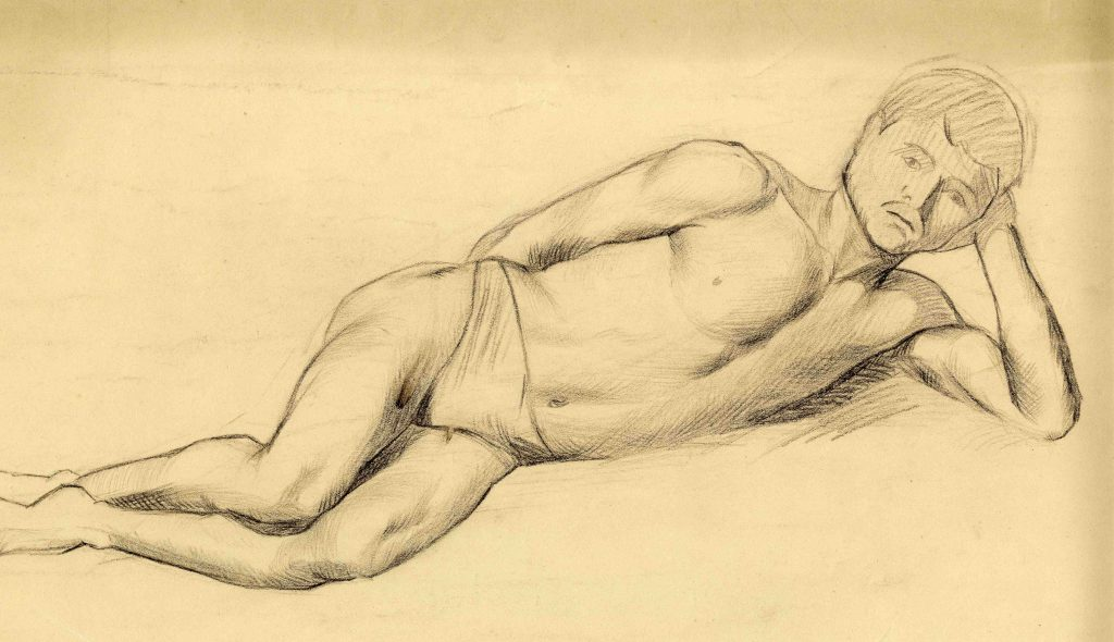 Stanley, Gilbert Harold Untitled (Study of Reclining Nude)