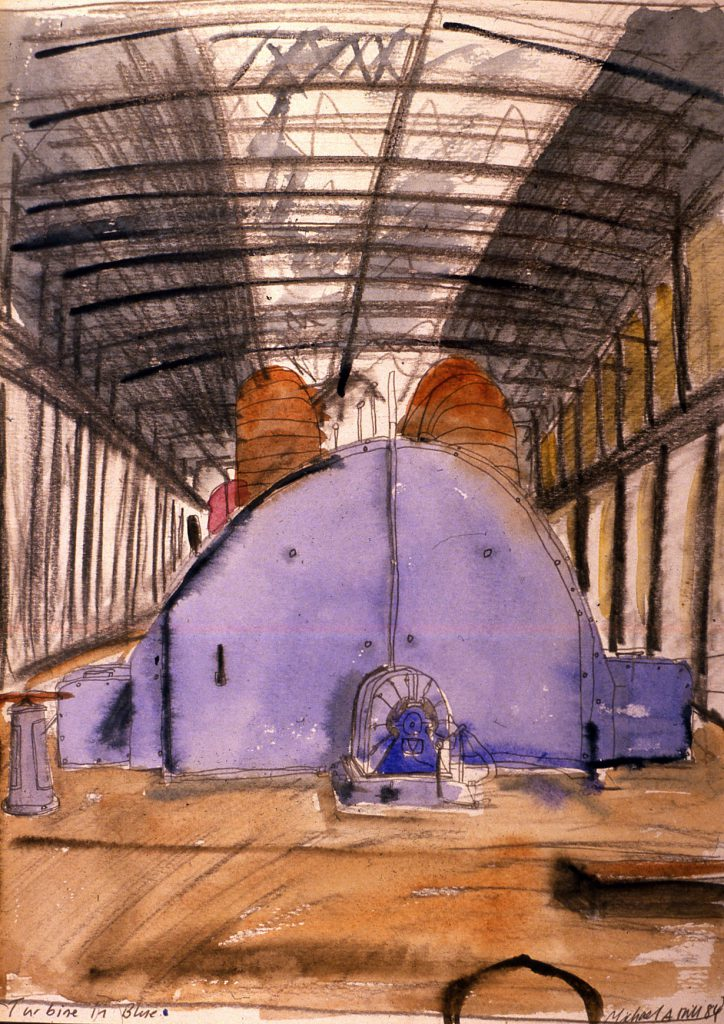 Hill, Michael A. Turbine in Blue (Inside Walsall Power Station before it was demolished)