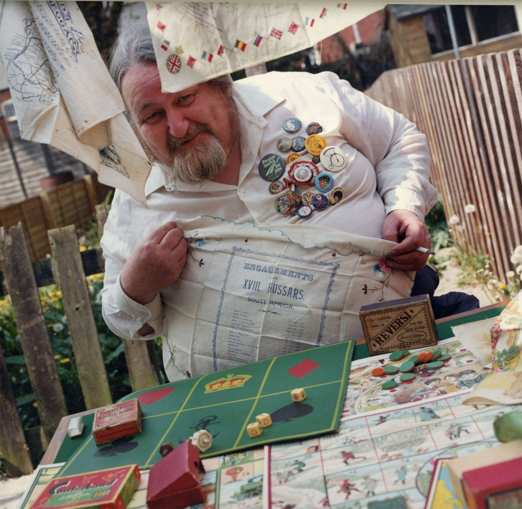 De Nasty, Ming The People's Show  Barry Roberts. Collection of badges, handkerchiefs and board games