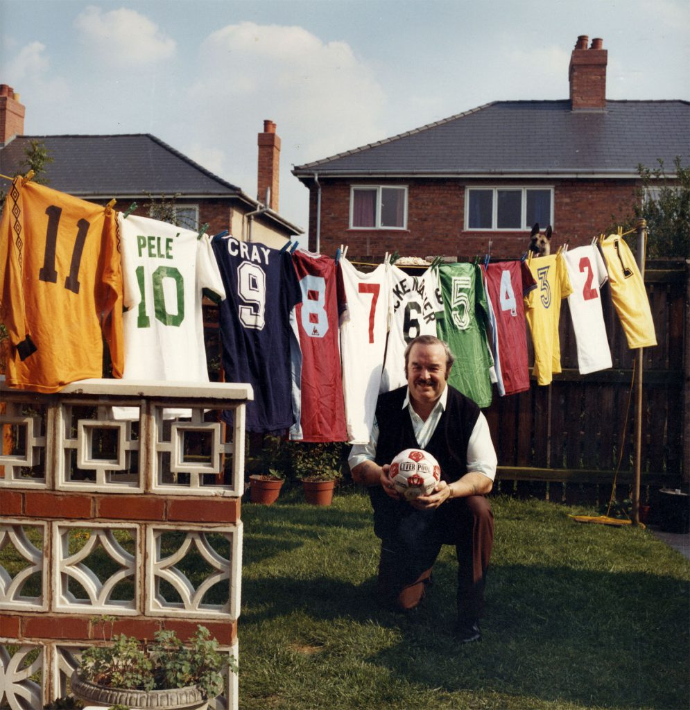 De Nasty, Ming The People's Show.  George Edward Nicholls.  Collection of football shirts worn by famous players.