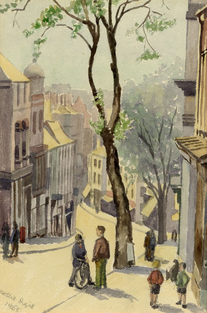 Orgill, Mollie Walsall – Looking down the town from the Church