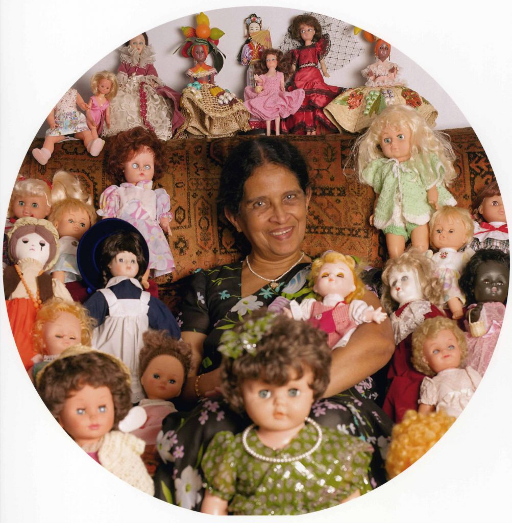Carroll, Patty Kusuma Cunawardana with her doll collection