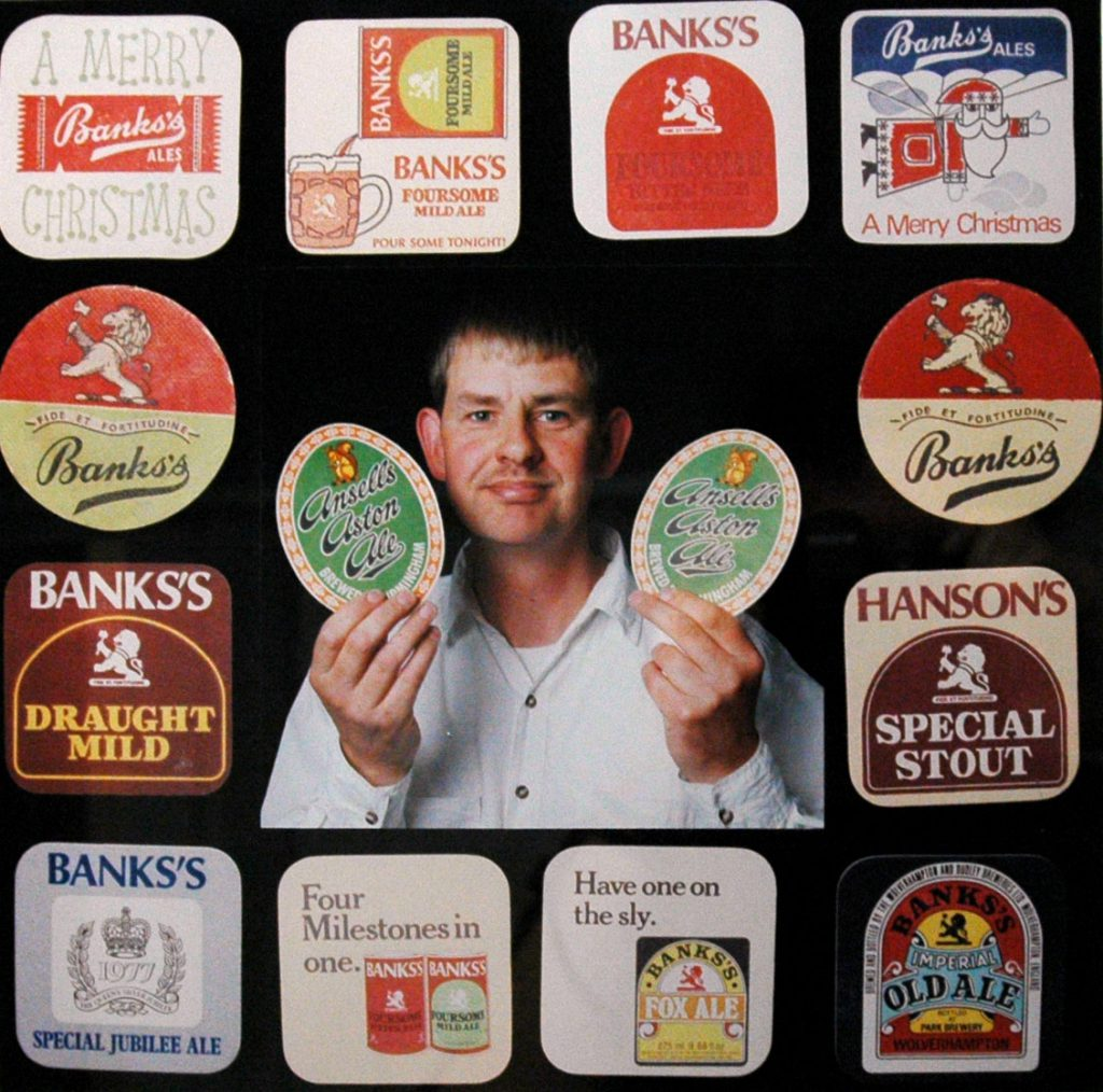 Carroll, Patty Ian Craig with his Beer Mat Collection – The Peoples Show 3