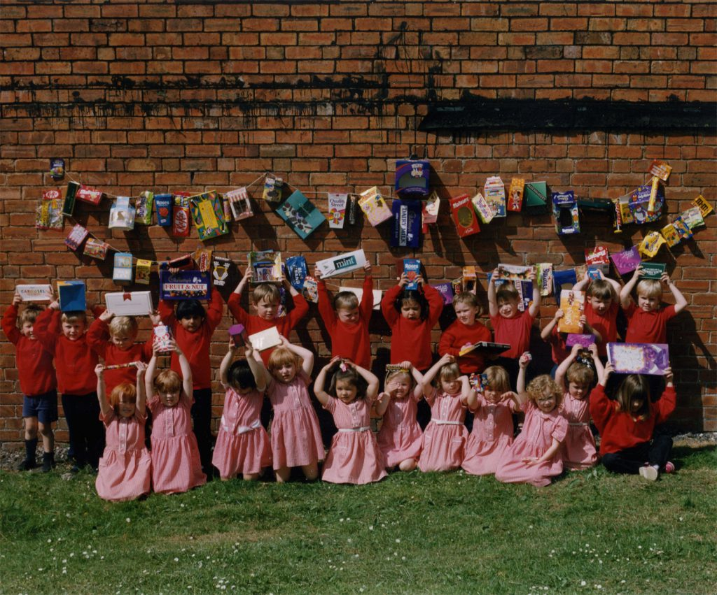 Carroll, Patty St Josephs R.C. School Nursery Class with their Sweetie Wrapper Collection – The Peoples Show 3