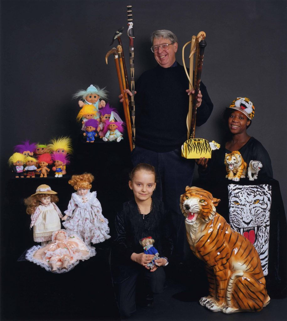 Carroll, Patty Gemma Powell, Ken Jeffrey, and Maureen King with their Collections of Trolls and Dolls, Walking Sticks and Tigers – The Peoples Show 3