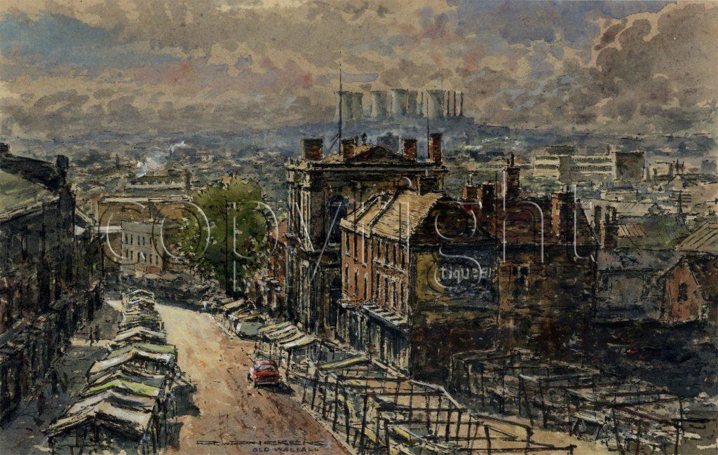 Dickens, Raymond Walter 'Old Walsall' High St., St. Matthews, Looking towards Birchills Power Station
