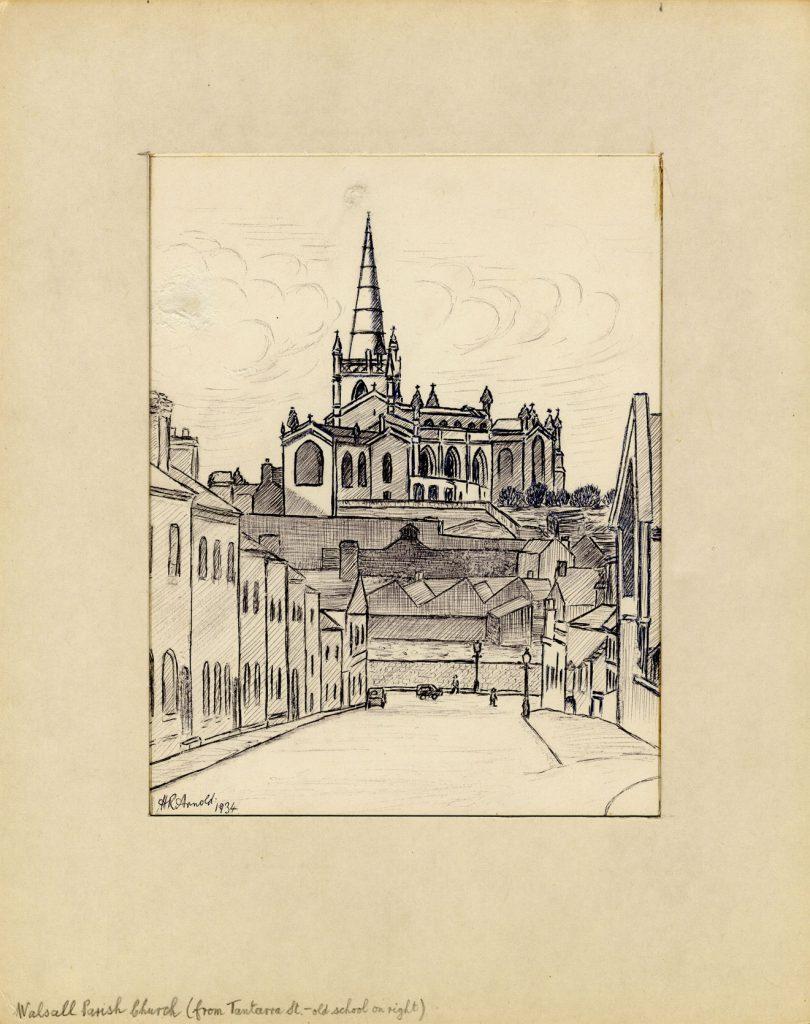Arnold, Harry Reginald Walsall Parish Church (from Tantarra Street – old school on right)