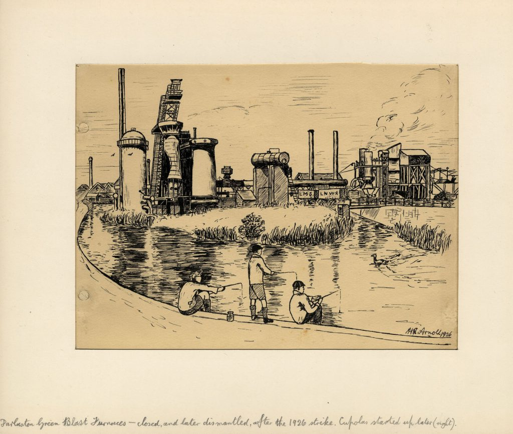 Arnold, Harry Reginald Darlaston Green Blast Furnaces – Closed and Later Dismantled after the 1926 strike. Cupolas started up later (right)