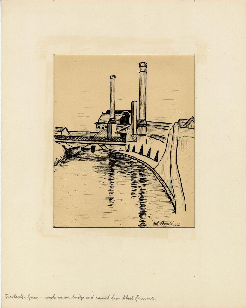 Arnold, Harry Reginald Darlaston Green – Works across bridge and canal from blast furnaces