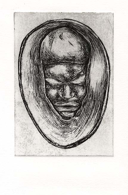 Campbell, Matthew after, stone head, C19-C20, Sierra Leone