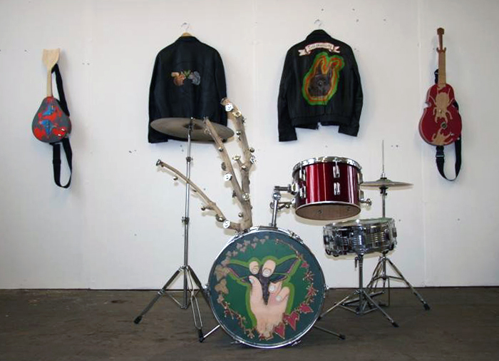 Juneau Projects Traditional Grip (painted drum kit)