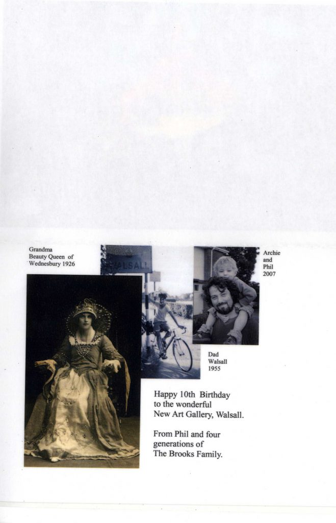 Brooks, Phil The New Art Gallery Walsall Tenth Birthday Card