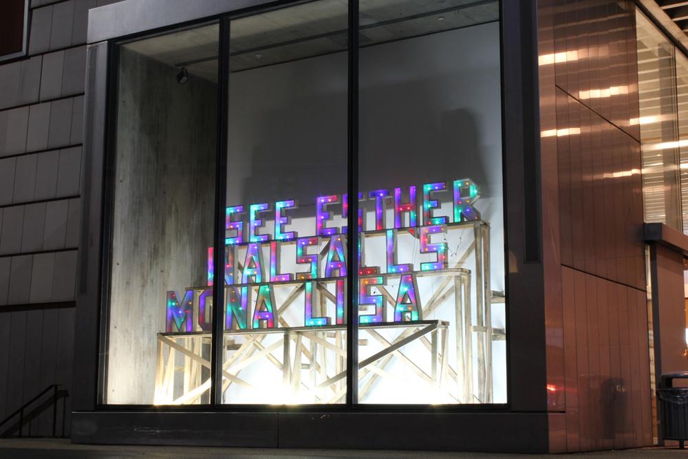 Smith, Bob & Roberta See Esther Walsall's Mona Lisa (Window Box installation)