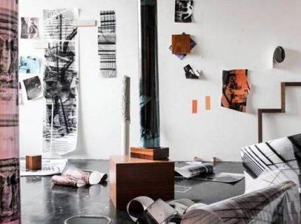 Chloe Ashley, studio work, The Building as Material Residency, 2016